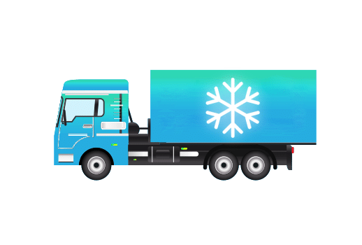 kamion koji ima temperaturne senzore