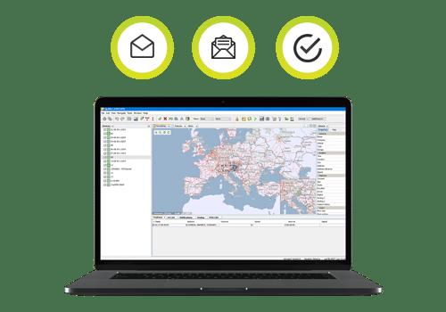 slanje poruka, lokacija ili ruta