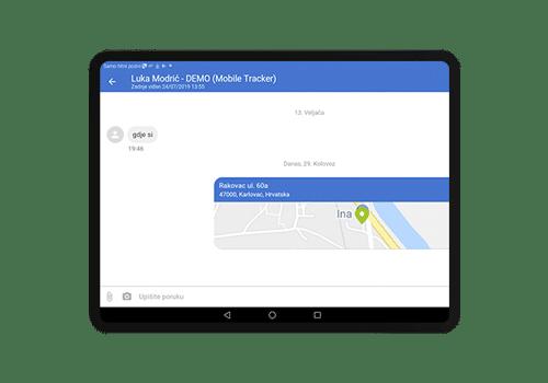 driverlink tablet - komunikacija