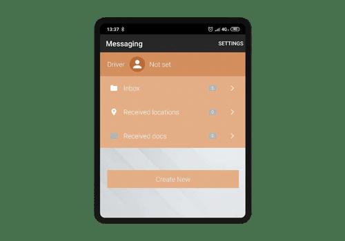 sdash tablet - komunikacijsko sučelje