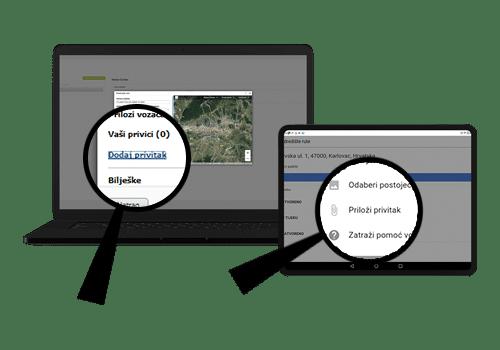 driverlink tablet - razmijena dokumentacije